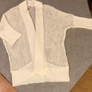 Derek Heart cream cardigan Sz L